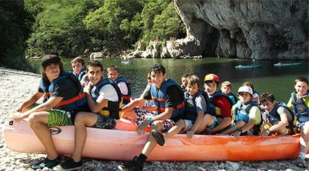colonie de vacances ardèche canoe kayak nature