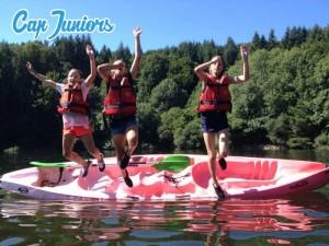 Baignade et canoë kayak entre potos de colo